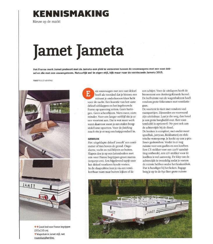 ANWB KCK testrapport Jamet Jameta vouwwagen