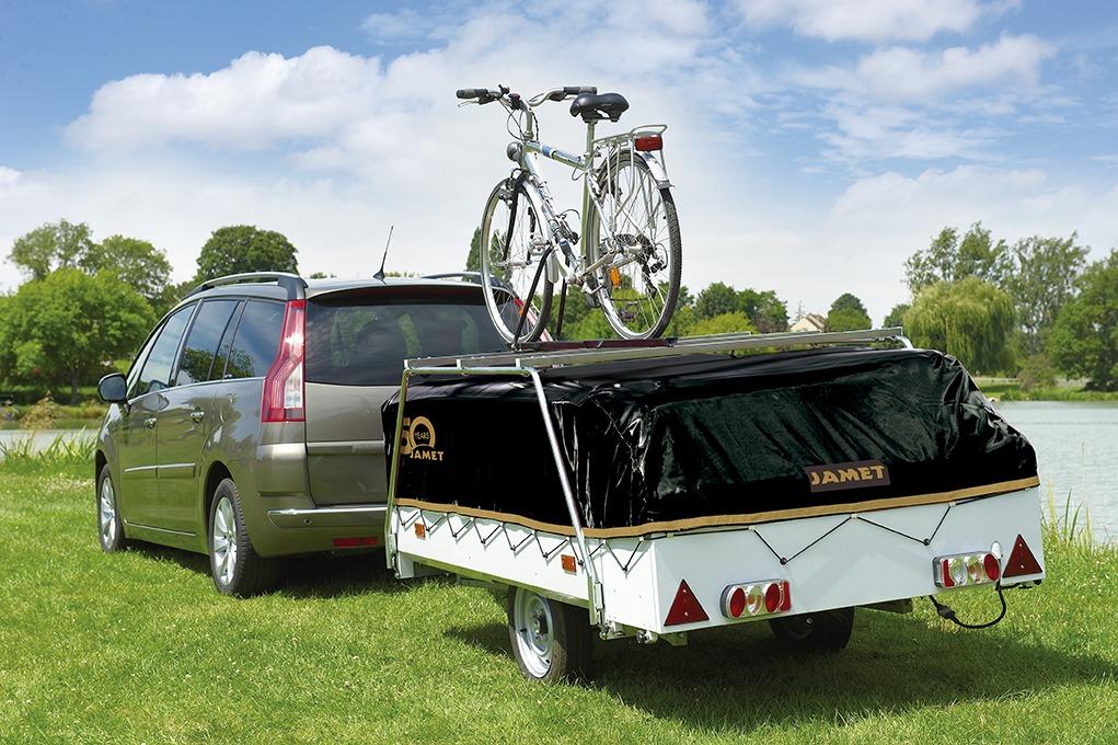Vouwwagen Jamet Dakota met imperial voor fietsen
