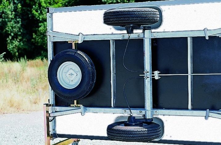 Vouwwagen reservewiel op Jamet vouwwagen