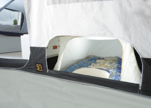 Vouwwagen opties bij Jamet - Ondertent voor extra slaapplaats