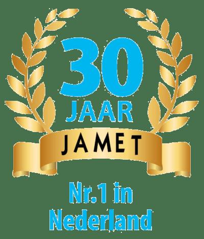 Jamet Vouwwagens 30 jaar nr 1 in Nederland logo